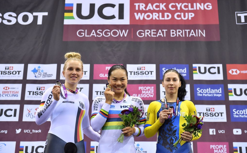 """Олена Старікова виграла """"бронзу"""" в спринті на етапі Кубка світу з велоспорту на треку в Глазго"""