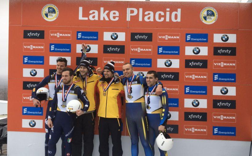 """Галицький екіпаж виборов """"бронзу"""" на етапі Кубка націй з санного спорту в Лейк-Плесіді"""