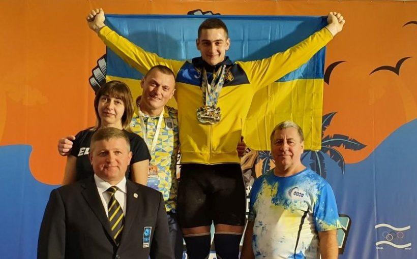 Богдан Гоза став абсолютним чемпіоном Європи з важкої атлетики серед юнаків і встановив три світові рекорди